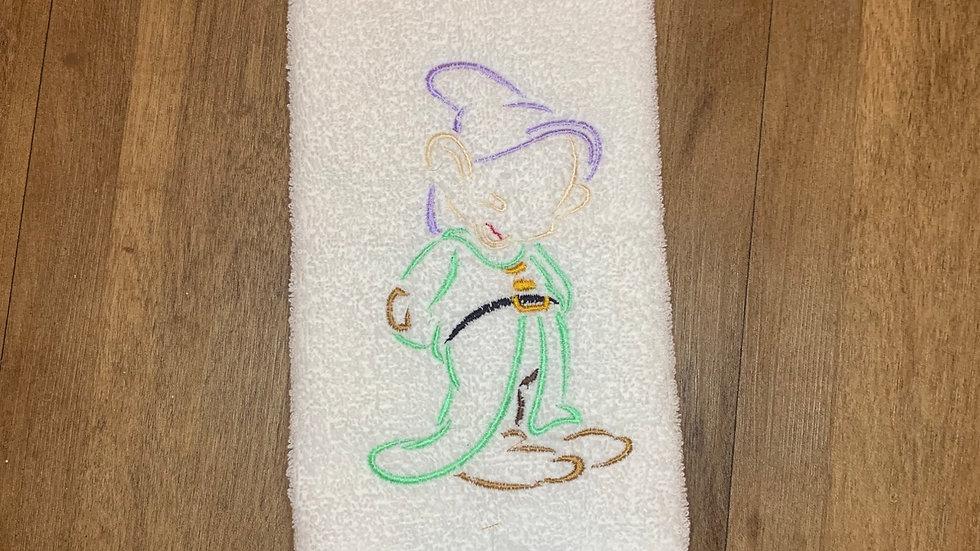 Dopey - Seven Dwarfs towels, makeup bag, tote