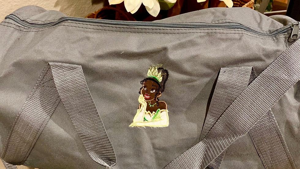 Tiana embroidered duffel bag
