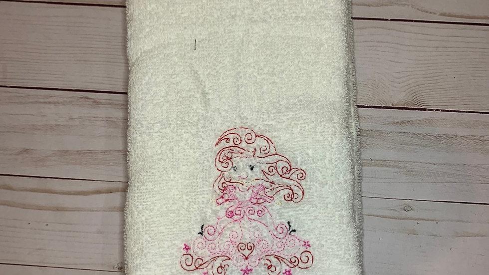 Ariel Swirl towels, makeup bag, tote bag, blanket