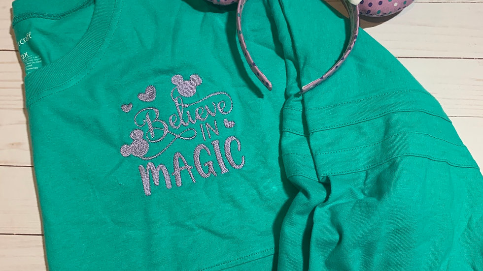 Believe in Magic embroidered spirit jersey
