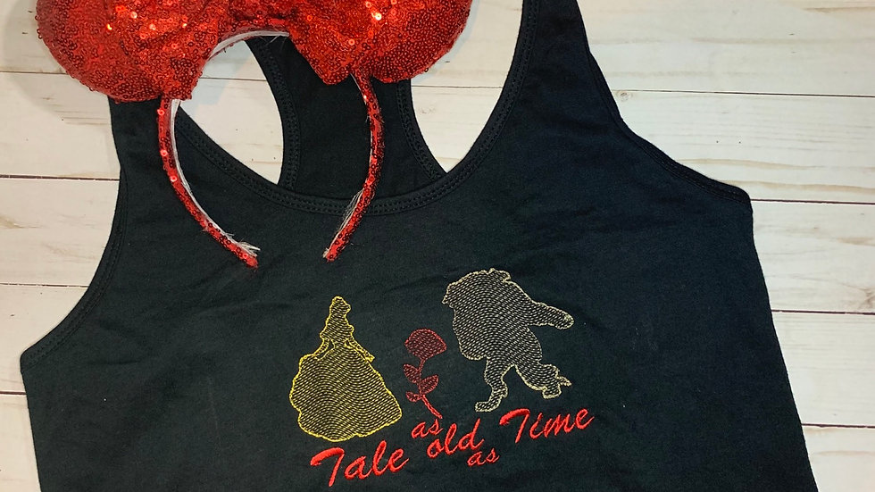 Tale as old as Time embroidered t-shirt or tank top