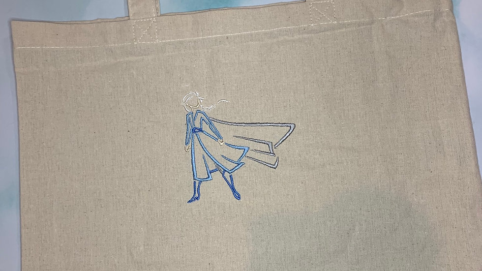 Into the Unknown Elsa embroidered market tote