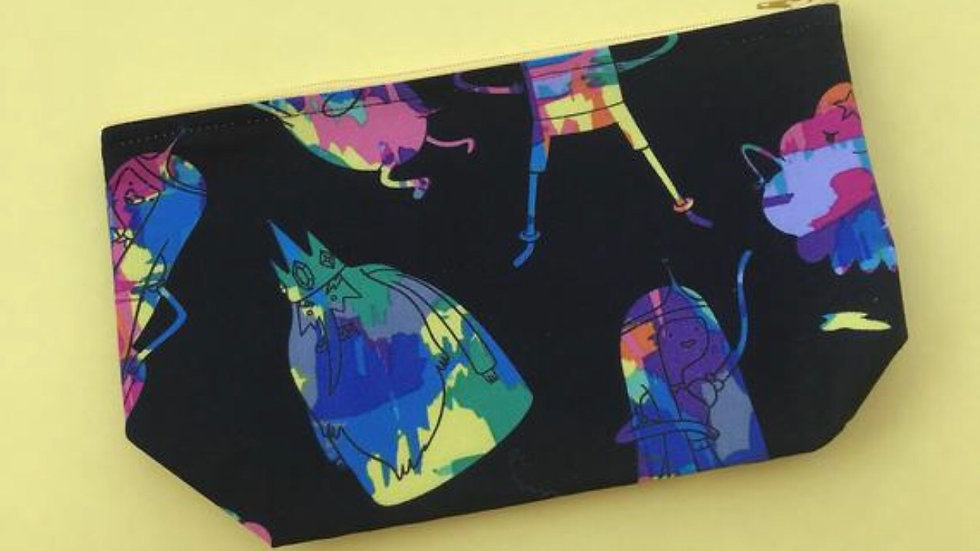 Adventure time makeup bag, zipper pouch