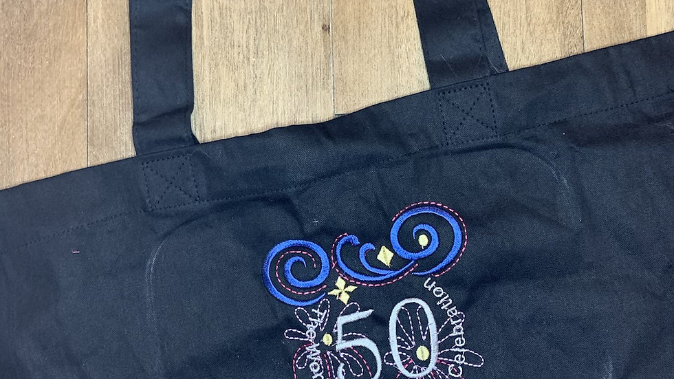 50th WDW Celebration Large Canvas Tote