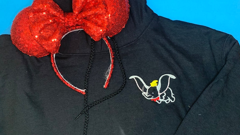 Flying Dumbo embroidered hoodie, pullover, 1/4 zip