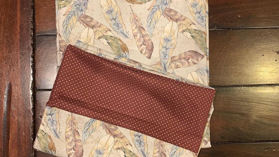 Boho feather standard pillowcase set -Free name embroidery