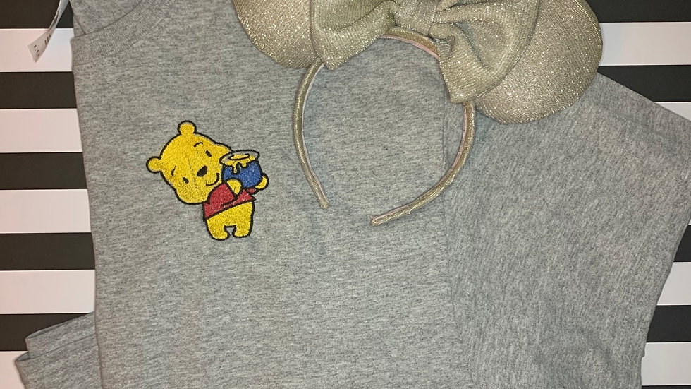 Pooh with Hunny Pot embroidered t-shirt or tank top