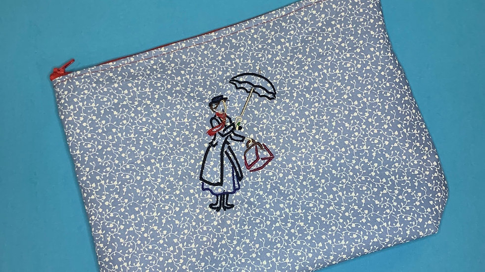 Mary Poppins towels, makeup bag, tote bag, blank