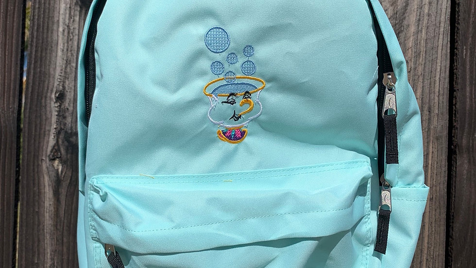 Chip Cup embroidered backpack