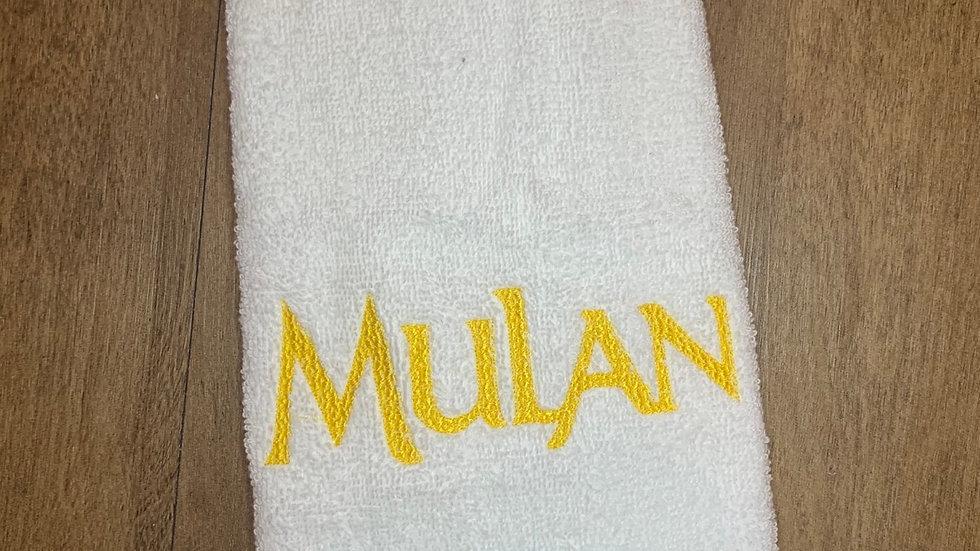 Mulan embroidered makeup bag, tote bag, blanket, t