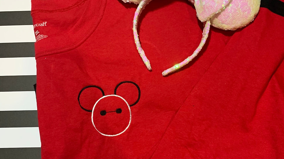 Baymax Mouse embroidered spirit jersey
