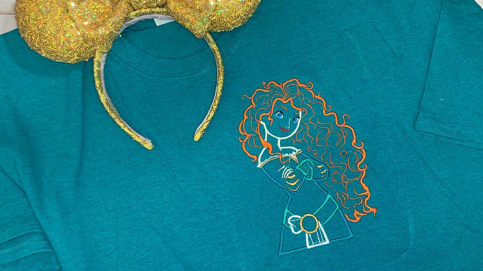 Merida embroidered t-shirt or tank top