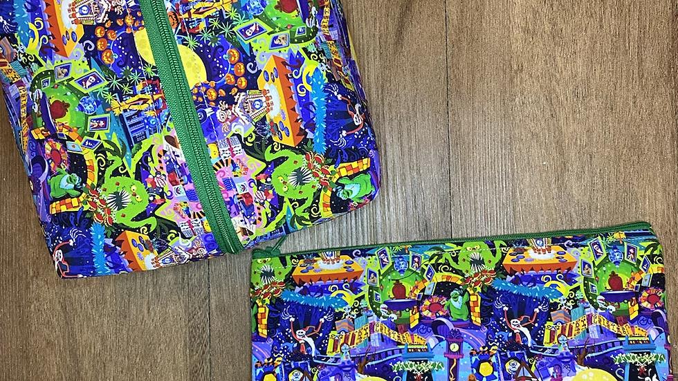 Haunted Mansion Holiday boxy bag or makeup bag