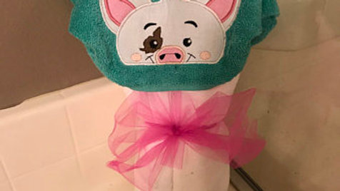 Pua hooded towel - name embroidery available