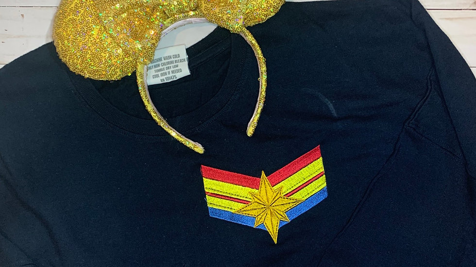 Captain Marvel embroidered spirit jersey