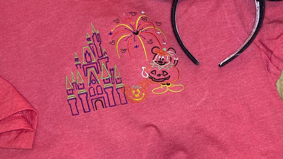 Mickeys not so Scary Party embroidered t-shirt or tank