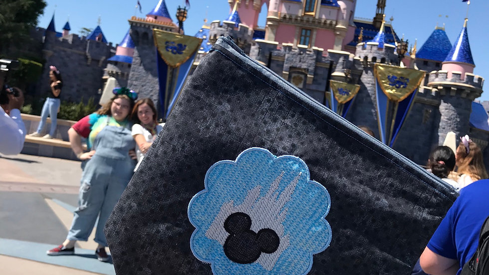 Castle Dreams embroidered makeup bag, tote bag, towel or blanket - name embroide