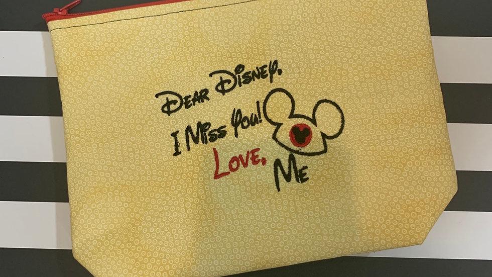Dear Disney I miss you! embroidered towels, blanket, makeup bag