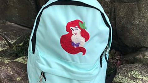 Little mermaid embroidered backpack