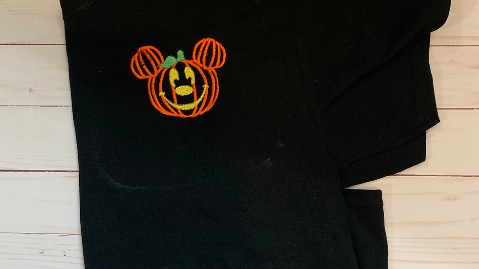 Mickey Pumpkin embroidered T-Shirt or tank top