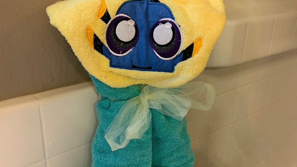Baby Dory embroidered hooded towel