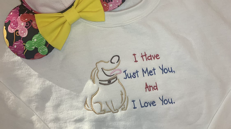 I Have Just Met you and I Love you embroidered hoodie, pullover, 1/4 Zip