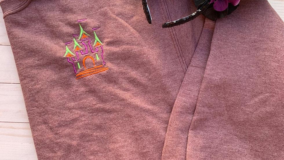 Happy Haunts Castle embroidered hoodie, pullover or 1/4 zip
