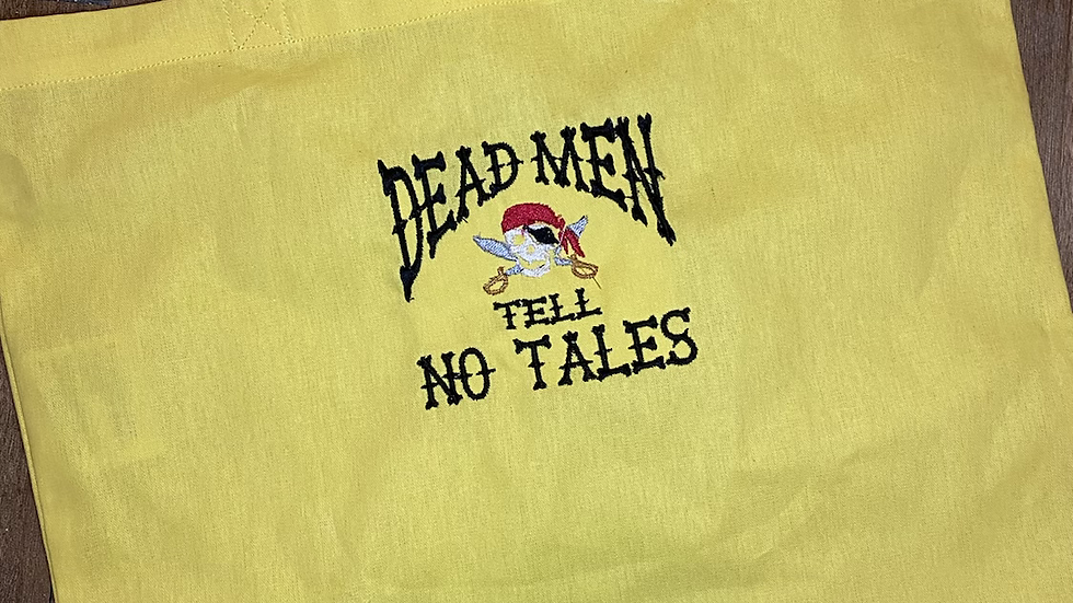Dead Men Tell no Tales embroidered market tote