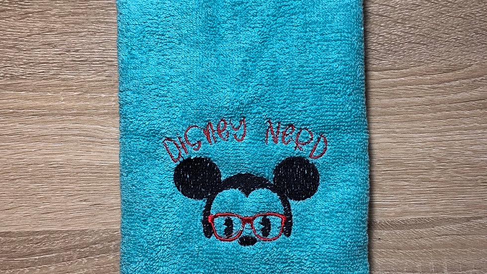 Disney Nerd towels, makeup bag, tote