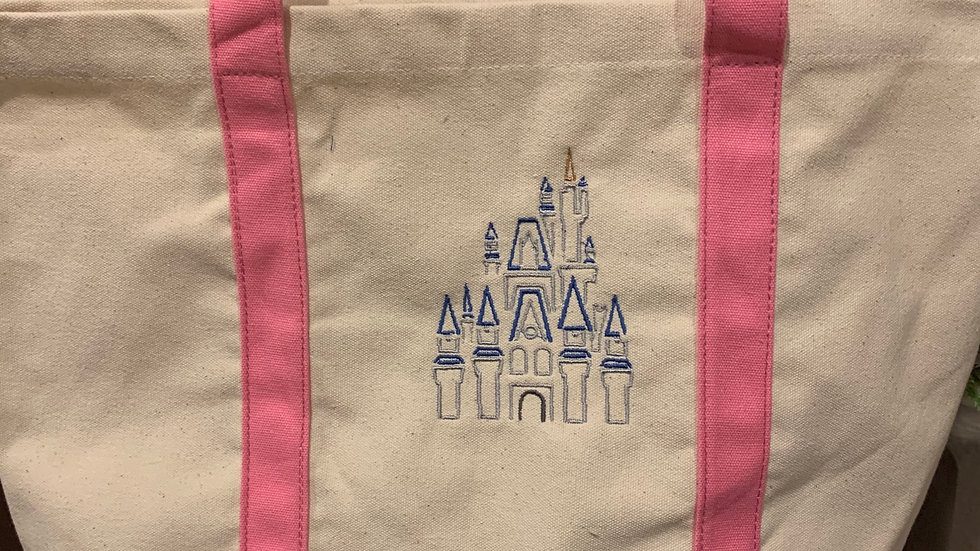 Cinderella's Castle pocket tote