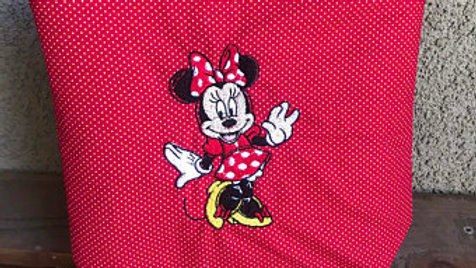 Minnie Mouse embroidered makeup bag, tote bag, blanket, towel