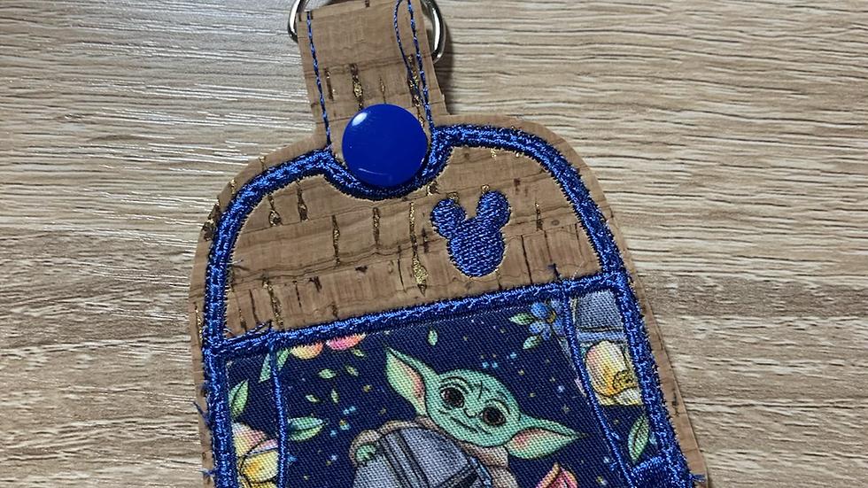 Floral Baby Yoda Spirit Jersey Keychain