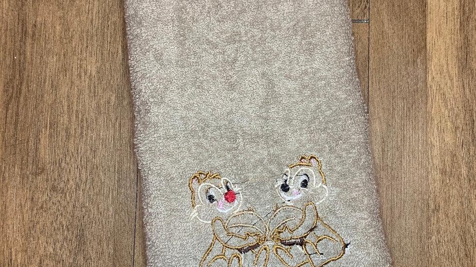 Chip and Dale towels, makeup bag, tote