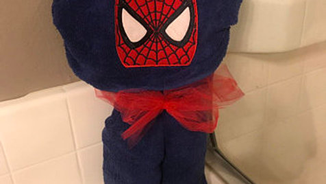 Spiderman Hooded Towel - Name embroidery available