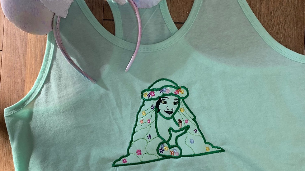 Tefiti embroidered t-shirt or tank