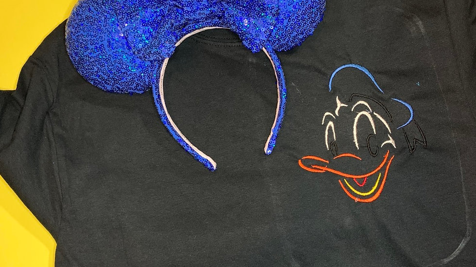Donald Bust embroidered t-shirt or tank top