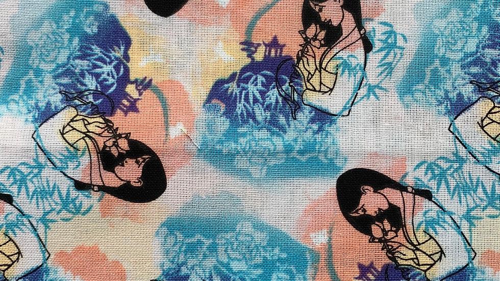 Watercolor Mulan card wallet