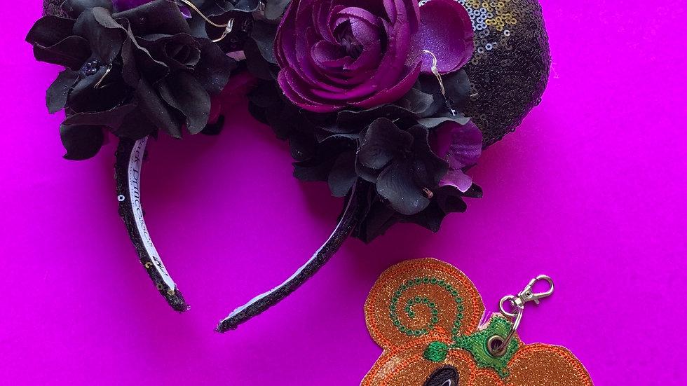 Mickey pumpkin ear / hat holder keychain
