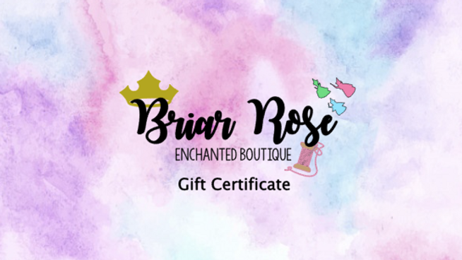 Briar Rose Enchanted Gift Certficate