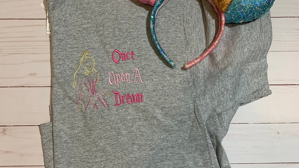 Aurora Once upon a dream embroidered T-Shirt or tank top