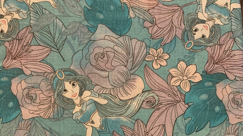 Floral Princess Jasmine preorder boxy bag or makeup bag