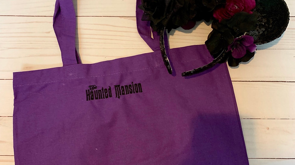 The haunted mansion market tote / trick or treat bag