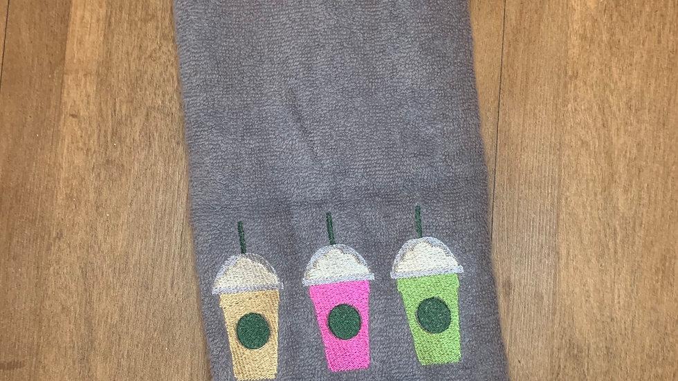 Happy Hour Fraps towels, makeup bag, tote