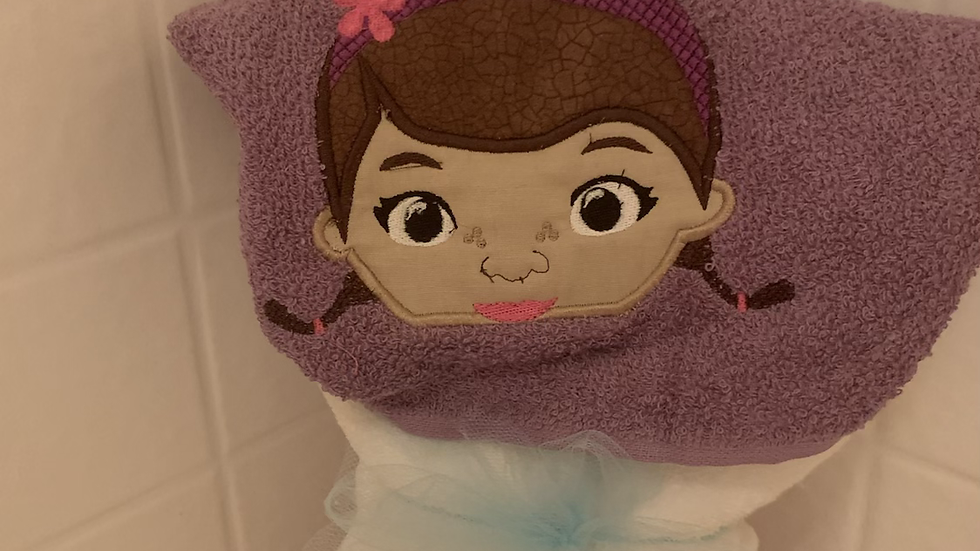 Doc McStuffins embroidered hooded towel