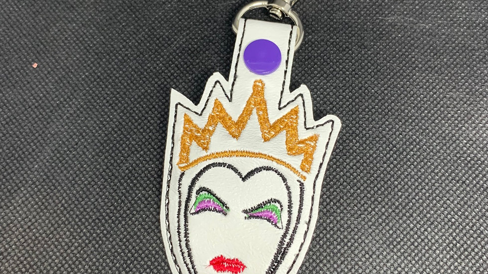 Evil Queen embroidered keychain
