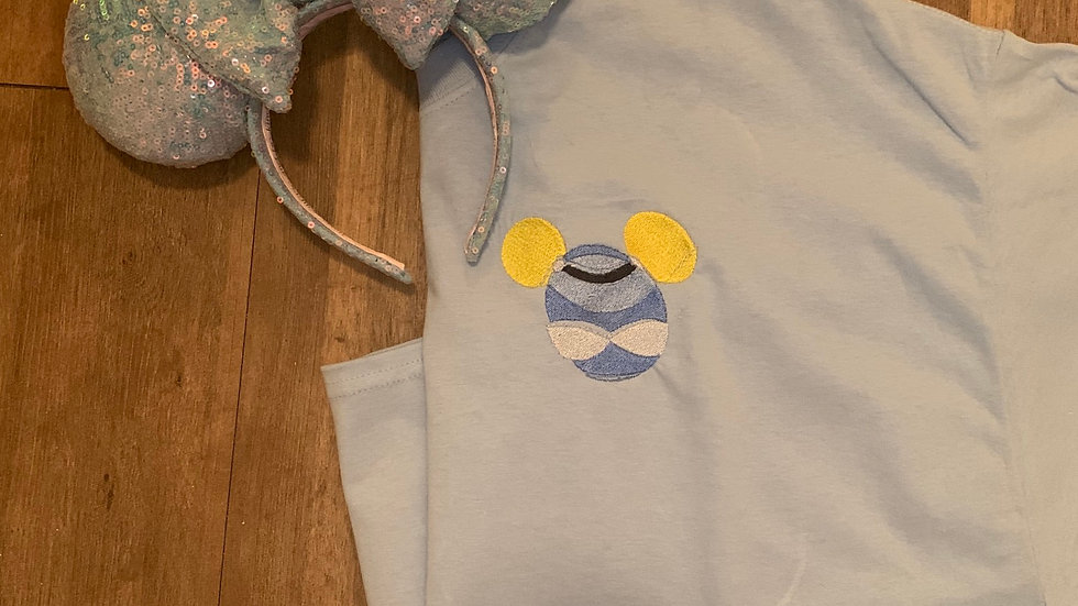 Cinderella Mouse embroidered t-shirt or tank
