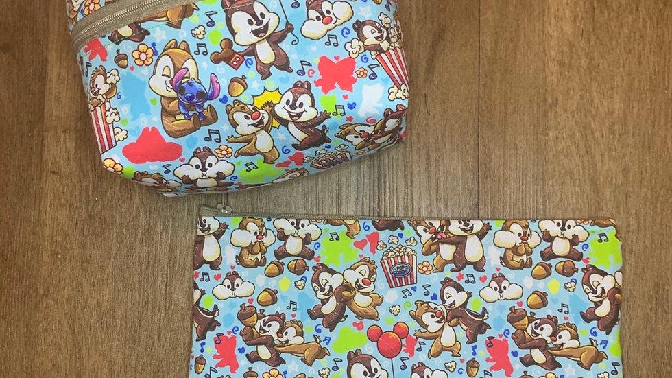 Chipmonks boxy bag or makeup bag