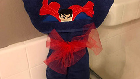 Superman hooded towel -name embroidery option available