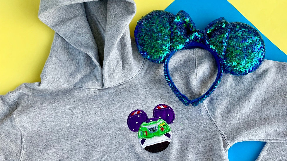 Buzz Mouse embroidered hoodie, pullover or 1/4 zip