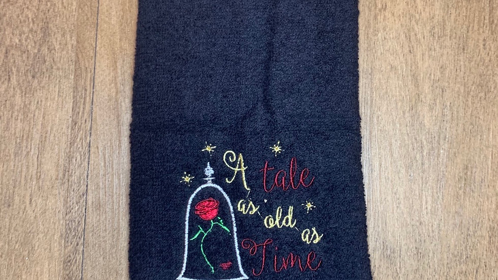Tale as old as time towels, makeup bag, tote
